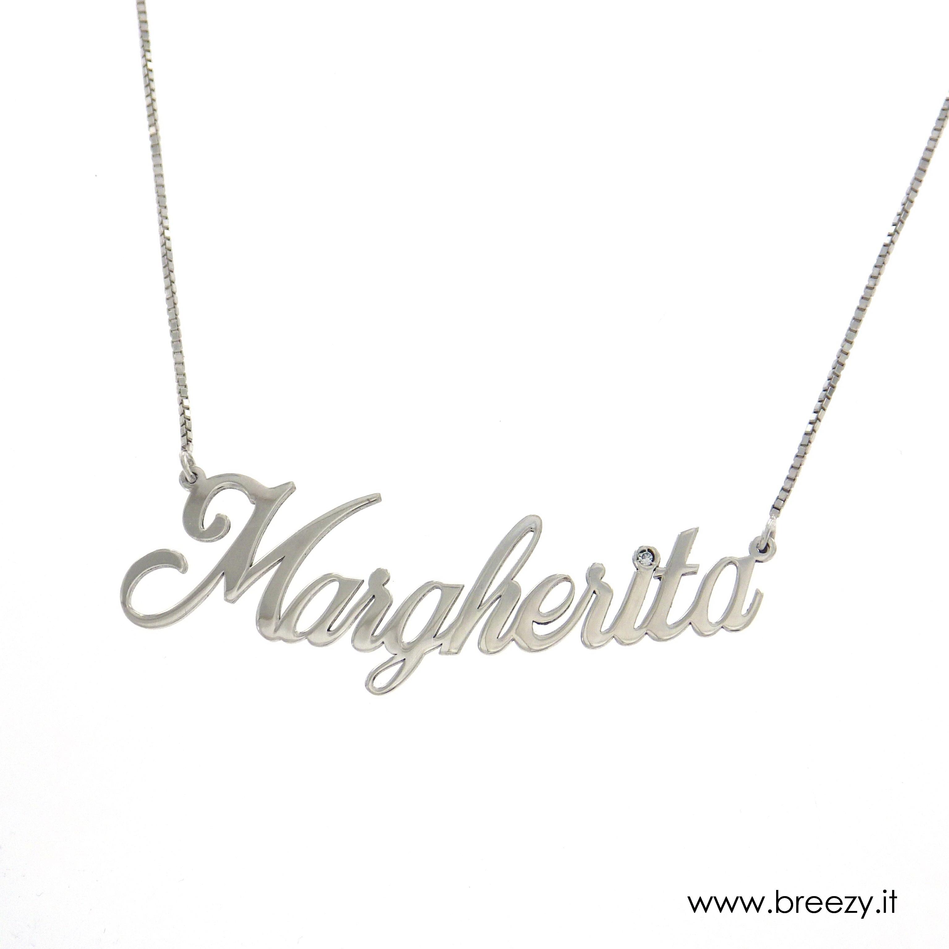 Amato Collana con nome in argento, collana con inziale in argento  SW33